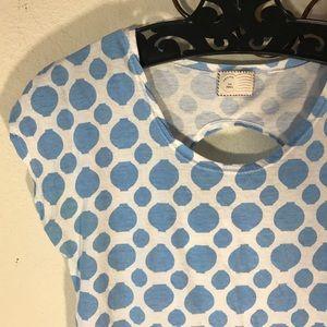 Anthropologie Tops - Postmark Blue Lantern Tee Shirt Comfy